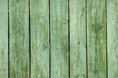 Old green wooden fence. Stock Photos