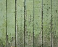 Old green wooden fence Stock Images