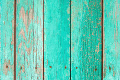 Old green wooden fence background Royalty Free Stock Photos