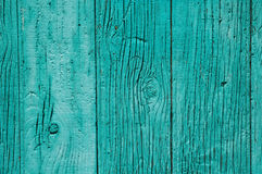 Old green wooden fence Royalty Free Stock Image