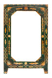 Old green wooden frame Stock Photos