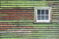 Old green wooden panel Stock Images
