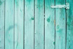 Old green wooden plank wall stock image