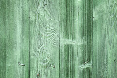 Old green wooden wall background texture Royalty Free Stock Photography