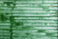 Old green wooden wall surface texture Stock Photos