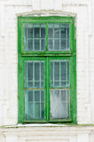 Old Green Wooden Window Stock Photos