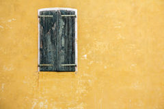 Old Green wooden window_1 Royalty Free Stock Images