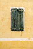 Old Green wooden window Royalty Free Stock Images