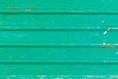 Old green zinc wall Royalty Free Stock Image