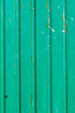 Old green zinc wall Royalty Free Stock Photos