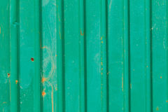 Old green zinc wall Stock Photography
