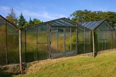 Old greenhouse royalty free stock photo