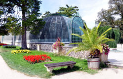 Old greenhouse in the park Lednice, South Moravia, Czech Republic, Europe Stock Photography