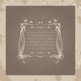 Old greeting card Royalty Free Stock Photography