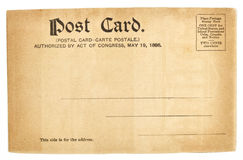 Old greeting postcard from United States Royalty Free Stock Photos
