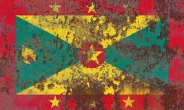 Old Grenada grunge background flag. Old flag Royalty Free Stock Photos