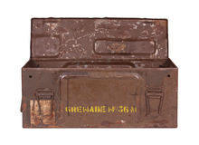 Old Grenade Box Stock Images