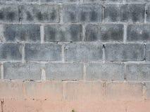Old Grey Brick of Wall Blocks Stock Photo