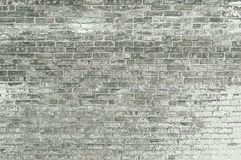 Old grey brick wall with white paint background texture Royalty Free Stock Photography