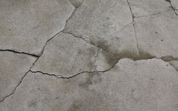 Old grey cement texture with cracks Royalty Free Stock Images