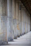 Old grey columns Royalty Free Stock Images