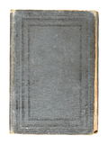 Old grey cover book isolated over white Stock Photo