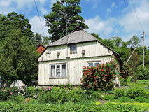 Old grey  home, Lithuania Royalty Free Stock Images