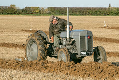 Old grey massey fergusen tractor at ploughing match Stock Photography