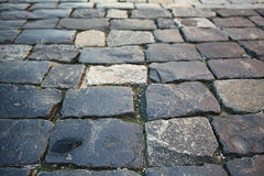 Old grey paving stones Stock Photography