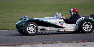 Old grey race car Royalty Free Stock Photography