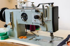 Old Grey sewing machine Royalty Free Stock Photography