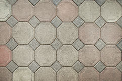 Old grey stone pavement background texture Royalty Free Stock Photos