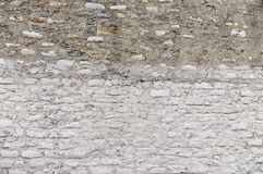 Old grey stone wall background Stock Photo