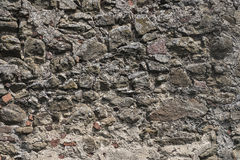 Old grey stone wall house background Royalty Free Stock Image