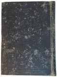 Old grey textile cover of hand-written book isolated Stock Photography