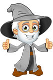 Old Grey Wizard - Two Thumbs Up Stock Photos
