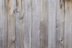 Old grey wooden fence background texture. Close up Royalty Free Stock Image