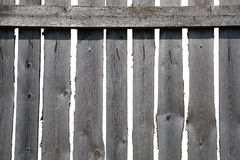 Old grey wooden fence Royalty Free Stock Photo