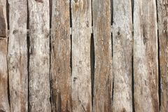 Old grey wooden plank fence.  Stock Photos