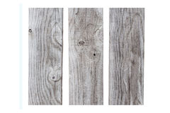 Old grey wooden plank isolated on white background Royalty Free Stock Images