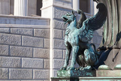 Old Griffin bronze statue, Vienna Stock Images