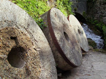 Old Grinding Stones Stock Photos