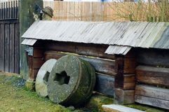 Old grindstones Stock Photo