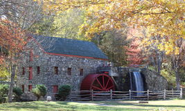 The Old Grist Mill in Fall Stock Image