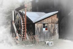 Old grist mill in rural Vermont. With fade effect Stock Images