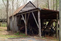 Old Grist Mill. An old 1800`s water powered grist mill Stock Image