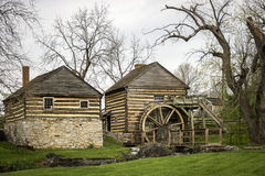 Old Grist Mill. An old grist mill beside a small stream Royalty Free Stock Photos