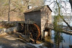 Old grist stone mill Royalty Free Stock Image