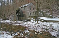 Old Gristmill and Stream horizontal Royalty Free Stock Image
