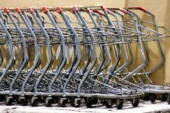 Old grocery or shopping carts royalty free stock images